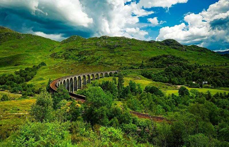 Schottland von der (Film-) Rolle